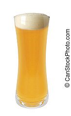 Pint of Beer Isolated on White Background