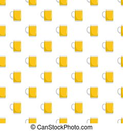 Pint of beer pattern seamless