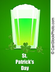 Pint of Green Ale for St Patricks Day