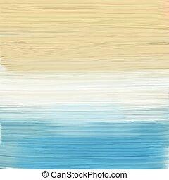 pintado, 1007, abstratos, praia, paisagem