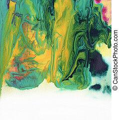 pintado, abstratos, acrílico, fundo