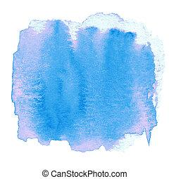 pintado, abstratos, mancha tinta, mão traseira, aquarela, molhados, textured