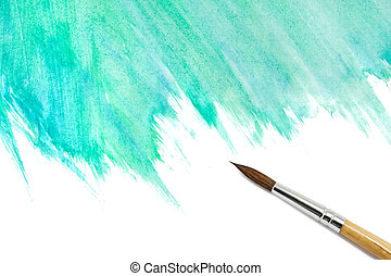 pintado, acuarela, resumen, cepillo, plano de fondo