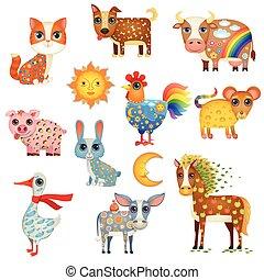 pintado, animais domésticos