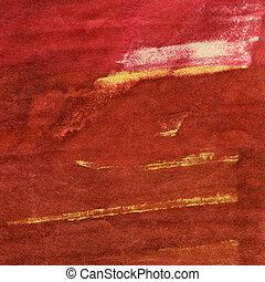 pintado, aquarela, artes, fundo, mão