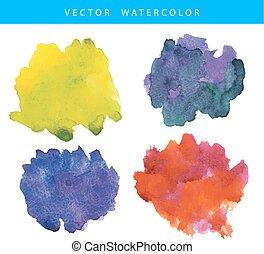 pintado, aquarela, textura, mão
