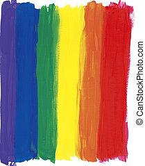 pintado, arco íris, listras
