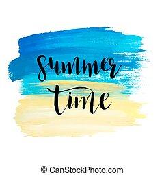 pintado, azul, aquarela, mar, experiência.