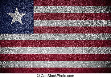 pintado, bandeira liberia, couro, textura