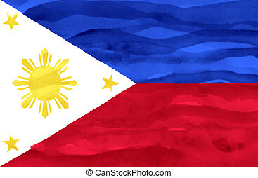pintado, bandera, de, phillipines
