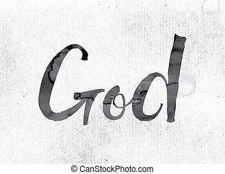 pintado, deus, conceito, tinta