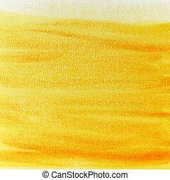 pintado, ensolarado, grunge, amarela, textura