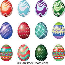 pintado, huevos, pascua, docena