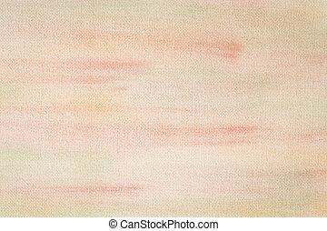 pintado, lona, amarela, textura, vermelho