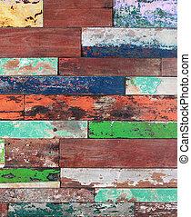 pintado, madeira, antigas, textura