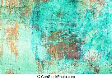 pintado, metal, antigas, listras, superfície