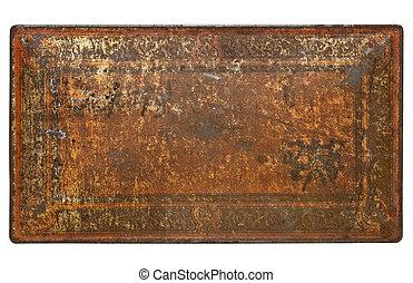 pintado, metal enferrujado, textura