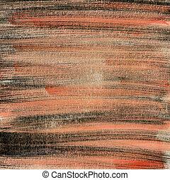 pintado, papel, preto vermelho, textura