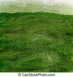 pintado, verde, grunge, textura