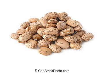 pinto bean on white background - pinto beans on white...