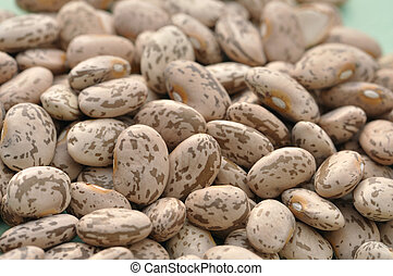 Pinto beans - Closeup of pile of raw pinto beans