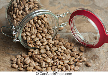Pinto Beans in a jar