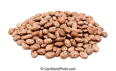 Pinto beans, isolated on a white background