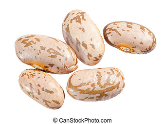 Pinto beans. - Pinto beans isolated on white background.