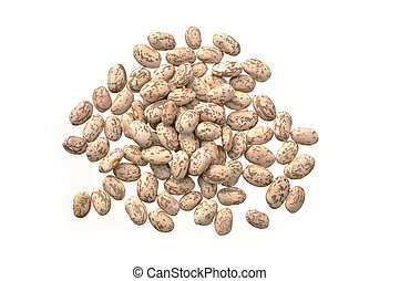 Pinto beans - Raw dry pinto beans isolated on white