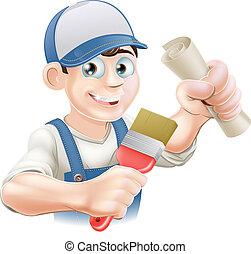 pintor, decorador, treinamento