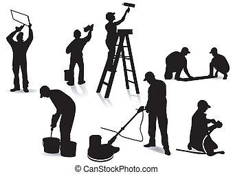pintores, artesanos