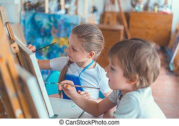 pintores, pequeno