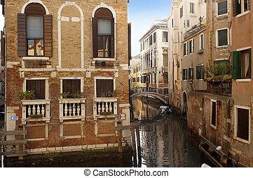 pintoresco, cityscape, de, venecia