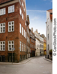 pintoresco, copenhague, calle