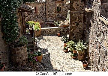 pintoresco, Toscana, Rincón