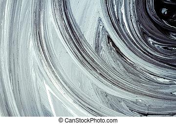pintura abstracta, acrílico