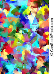 pintura abstracta, plano de fondo, diseñar