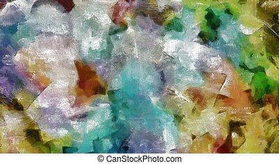 pintura abstrata, coloridos