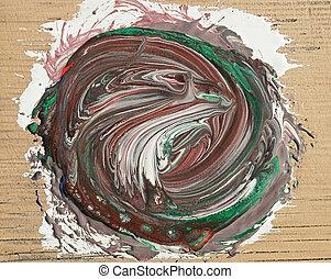 pintura abstrata, coloridos, fundo