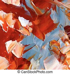 pintura abstrata, experiência., vetorial