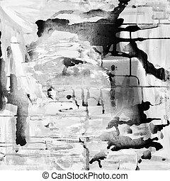 pintura abstrata, fundo, acrílico, abstração, composição