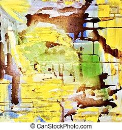 pintura abstrata, fundo, acrílico, padrão
