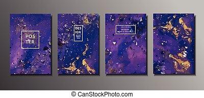 pintura abstrata, fundo, para, wallpapers, cartazes, cartões, em