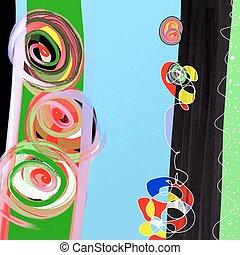 pintura abstrata, fundo