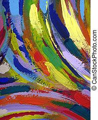 pintura abstrata, textura, fundo