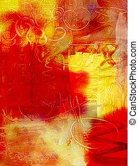 pintura, abstratos, acrílico, fundo