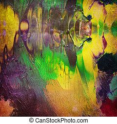 pintura acrílica, ligado, antigas, papel