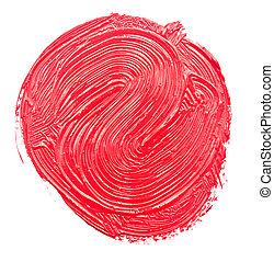 pintura, apoplexia, escova, vermelho, desenhado