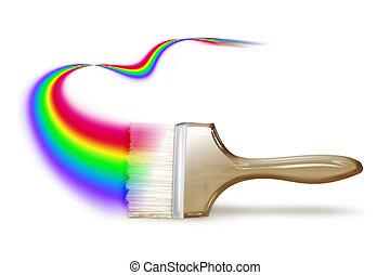 pintura, arco íris