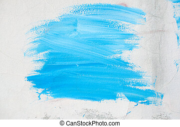pintura azul, ligado, parede
